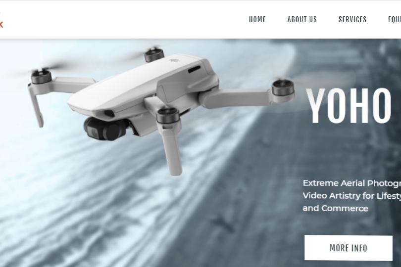 Photography videography website design in kathmandu