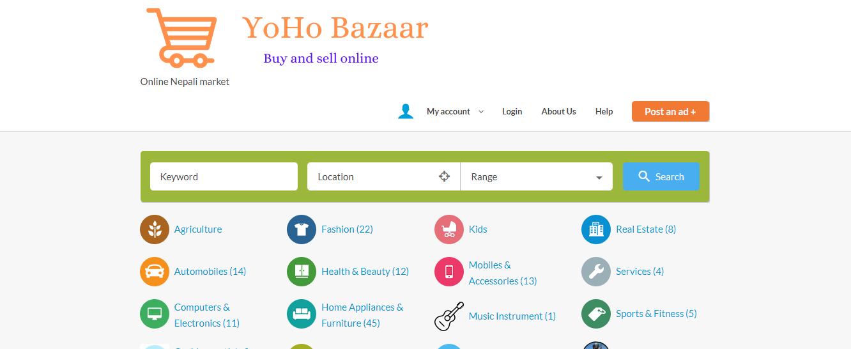 Classified website yohobazaar