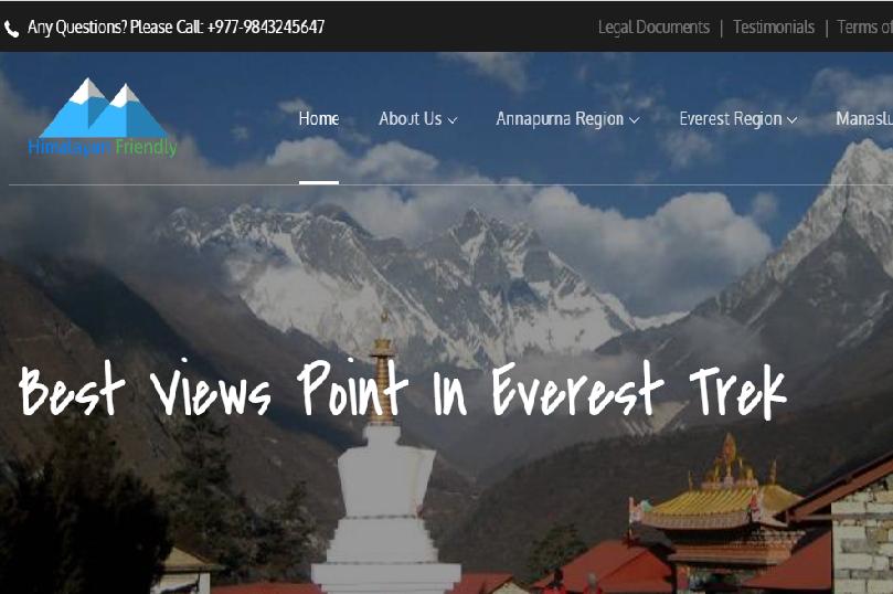 trekking web design in kathmandu