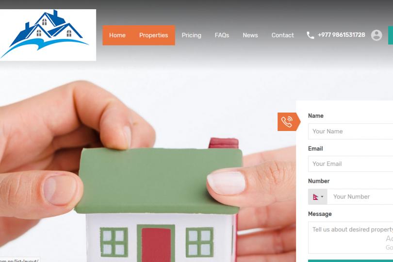 Real estate website design in Kathmandu