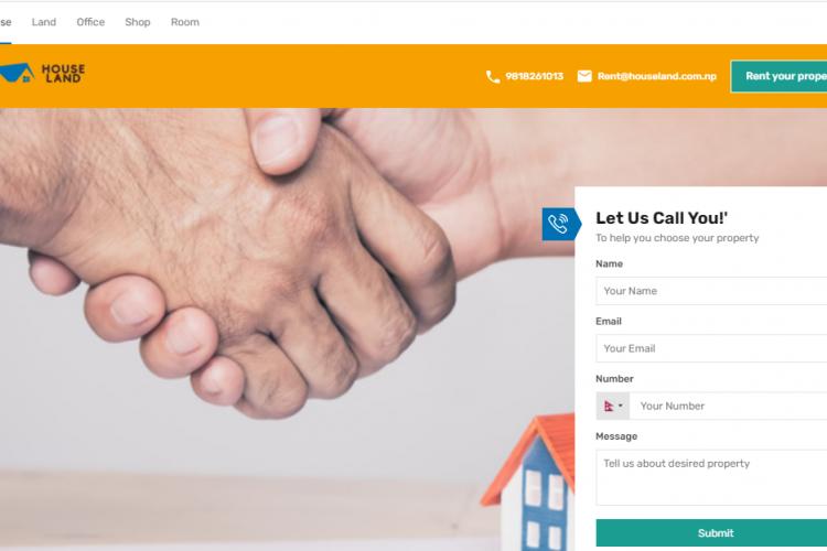 Rental real estate website